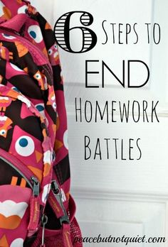 Although I don't think we'll ever get kids to stop complaining about homework, these 6 steps can help end battles and make it a little less painful!