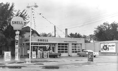 Image detail for -1950s shell gas station old shell gas station with 1959 and 1955 ...