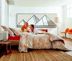 Sous le vent col paprika, en percale Percale De Coton, Sous Le Vent, Comforters, Toddler Bed, Blanket, Furniture, Fibres, Home Decor