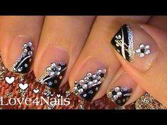 New Nails Acrilico Juveniles Negras Ideas Blue Nails, Matte Nails, Stiletto Nails, Glitter Nails, Cute Acrylic Nails, Gel Nail Art, Purple Eye Makeup, Nail Art Videos, Nail Candy