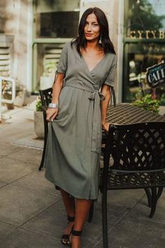 Keep in style and look your best with theBristol Wrap Dress!Featuring short sleeves with ties,...