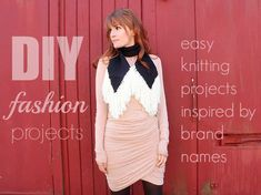 Fashionistas, trendsetters, and style-seekers unite! This list of DIY Fashion Projects: 36 Easy Knitting Projects Inspired by Brand Names is sure to get you in the mood to knit up some stylish threads. Diy Easy Knitting Projects, Easy Knitting Patterns, Free Knitting, Knitting Ideas, Crochet Patterns, Scarf Patterns, Embroidery Patterns, Easy Knit Blanket, Easy Knit Hat