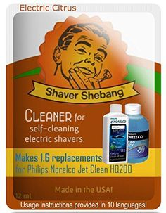 64 Philips Norelco Jet Clean HQ200 bottle equivalents with a FREE Shebang Bottle  Electric Citrus  4 Shaver Shebang cleaner solution * Check this awesome product by going to the link at the image.