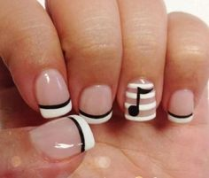 Easy Nail Designs For Short Nails Collection nail art designs for short nails easy papillon day spa Easy Nail Designs For Short Nails. Here is Easy Nail Designs For Short Nails Collection for you. Easy Nail Designs For Short Nails 101 classy nail art. Fancy Nails, Love Nails, Diy Nails, Pretty Nails, Music Note Nails, Music Nails, Music Nail Art, Art Music, Short Nail Designs