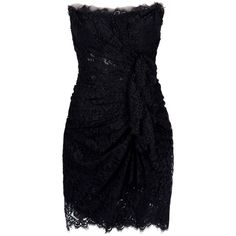 DOLCE & GABBANA Lace bustier ruched dress ❤ liked on Polyvore