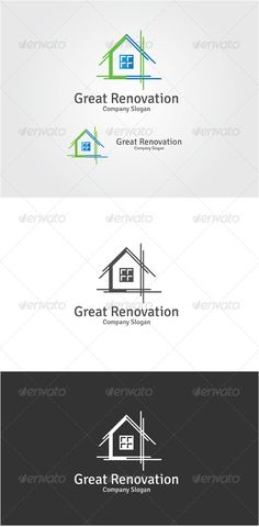 Great Renovation  - AI Logo Template • Only available here ➝ http://graphicriver.net/item/great-renovation/6503372?ref=pxcr