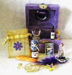 Fairy Magic Spells Box Gothic Miniature Witch by fantasycrafts, $30.00