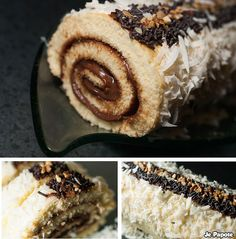 Here's a simple recipe for Nutella rolled cake. All stages of realization in picture not to miss your nutella roll. Nutella Fudge, Nutella Crepes, Chocolate Torte, Chocolate Sugar Cookies, Vegetable Drinks, Drip Cakes, Donut Recipes, Recipe Images, Food And Drink