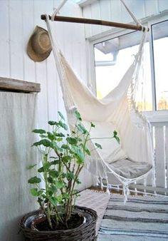 Hanging Hammock Chair Relax in Luxury Comfort French Provincial Shabby Cream New | eBay