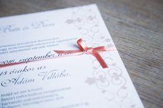 Elegant Wedding Invitation, Wedding Invitation, Ribbon wedding invitation, Peach Wedding Invitation Peach Wedding Invitations, Ribbon Wedding, Place Cards, Place Card Holders