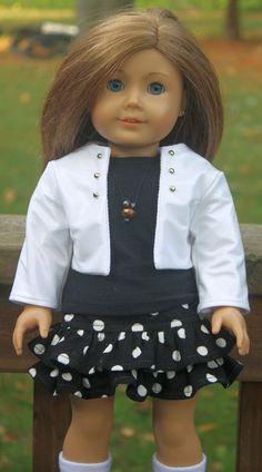 American Girl Doll ClothesPolkadot ruffled by buttonandbowboutique