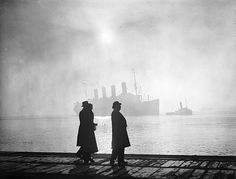 December 1935 The Cunard luxury liner Aquitania at Southampton in Hampshire.
