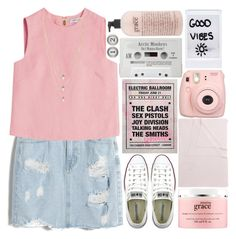 """Five story fire as you came..."" by this-side-of-paradise ❤ liked on Polyvore featuring Chicnova Fashion, Valentino, Converse, Aidan Gray, Lionette, Fujifilm, philosophy and Tartine et Chocolat"