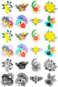 フリーのアイコン素材可愛い和風アクセサリーのアイコン / The cute icons of Japanese style accessory by atelier-bw  ダウンロードはこちらから  The downloading from this.