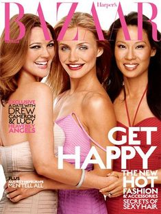 Drew Barrymore, Cameron Diaz and Lucy Liu for Harper's Bazaar US August 2003