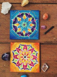 CUSTOM Mandala Original Artwork ~ Painting on wood ~ chakra Mandala ~ Flower ~ Fractals ~ sacred geometry ~ by LunaPatchouli on Etsy https://www.etsy.com/listing/215740113/custom-mandala-original-artwork-painting