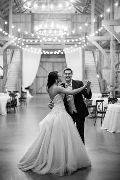 Silver & Lace vintage barn wedding. photo by The Tarnos. Bride & Grooms last dance.