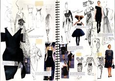 Sketchbook - Little Black Dress: Portfolio. This image will be discussed in our eBook 'Sketchbook development' getting you into art college. www.portfolio-oomph.com/ebooks/sketchbook-development
