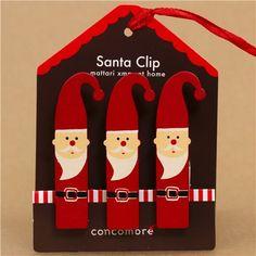 cute Santa Claus Christmas card holder set 3pcs from Japan 3