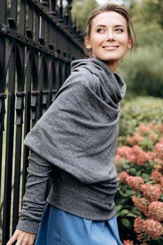 LeMuse gray POEM sweater | Etsy