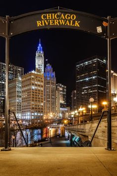 One of the first places I visit when I can to Chicago was the Chicago Riverwalk. The Chicago Riverwalk accentuated an environment around the modern architecture which was just around the famously known Lake Michigan. Chicago At Night, Chicago City, Chicago Trip, Chicago Chicago, Navy Pier Chicago, Chicago Vacation, Milwaukee City, Visit Chicago, Chicago Style