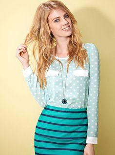 Polka Dot Shirt & stripes