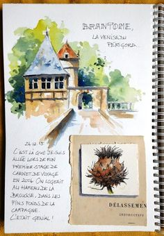 Sketch, travel diaries and watercolor, online sketch internship, sketching, … – LANDSCPİNG Voyage Sketchbook, Travel Sketchbook, Watercolor Sketchbook, Art Sketchbook, Watercolor Landscape, Watercolor And Ink, Tag Art, Sketch Notes, Nature Journal