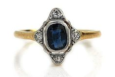 35 Stunning Vintage Engagement Rings From Etsy #refinery29  http://www.refinery29.com/vintage-etsy-engagement-rings#slide-5  A Victorian ring from the turn of the 20th century, this stunner is the perfect mix of rarefied materials and majestic design.