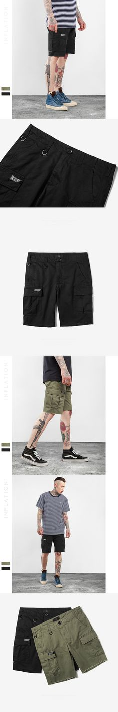 High Quality 2017 Spring and Summer Tide Brand Casual shorts Multi-bag Men's Casual shorts Twill Fashion Army Work Shorts