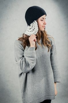 An original handmade knitted hat design by jasminesmacrame. https://www.etsy.com/shop/Jasminesmacrame?ref=hdr_shop_menu
