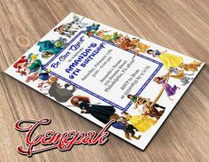 All Disney Character-Birthday Invitation-Printable by Cemepak