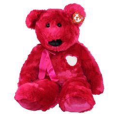 Retired 19207: Ty Beanie Buddy - Valentina The Red Bear (Extra Large - 30 Inch) *Creased Tag* -> BUY IT NOW ONLY: $56.9 on eBay!