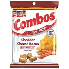 Pretzel Snacks, No Bake Snacks, Combos Snacks, Baked Pretzels, New Oven, Bacon In The Oven, Oven Baked, Natural Flavors, Cheddar Cheese