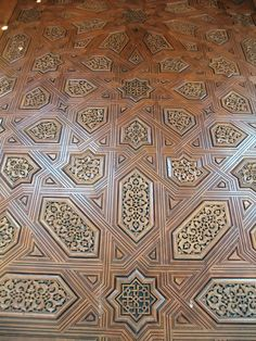 Wooden door of the Sala de las dos Hermanas at the Alhambra palace