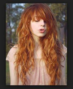 Genç Kızlar için Bakır Saç Modelleri
