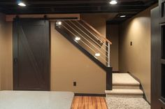 Love these colors.  Schubbe Basement remodel - traditional - basement - minneapolis - DEICHMAN CONSTRUCTION