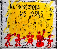 Le Printemps - Ses Notes Painting by French artist Zanda