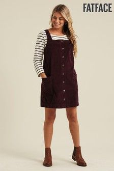 Buy FatFace Purple Sabrina Cord Pinafore Dress from the Next UK online shop Cord Pinafore Dress, Fat Face, Next Uk, Uk Online, Project 333, High Neck Dress, Purple, Stuff To Buy, Shopping