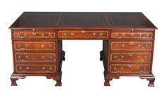 Handcrafted in England by a third generation furniture maker, this mahogany partners desk is ideal for any home or office. It contains a large amount of very functional storage space which can be used for your specific needs. English Craftsmanship By using time honored, skilled techniques the master craftsman who made this desk was able to create a wonderful and …