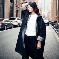 2016 Autumn Women Denim Trench Coats Streetwear Female Solid Long Sleeve Hooded Tops Casual Loose Long Fashion Outwear Cardigan