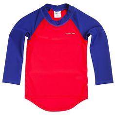 Baby swim top upf 50, UV protection red blue