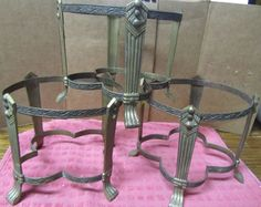 Lot 3 Brass Pillar Candle Holders Stands Ceremony Wicca Decorative Decor Pillar Candle Holders, Pillar Candles, Wicca, Ebay, Home Decor, Decoration Home, Room Decor, Home Interior Design, Wiccan