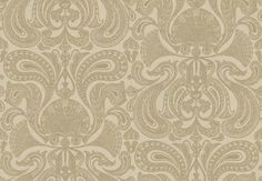 Malabar (66-1002) - Cole & Son Wallpapers - An elaborate metallic gold design of paisley fan shapes on a light brown base.  Perfect for feature walls – available in other colours.  Image doesn't do this wonderful paper justice – please ask for a sample for true colour.