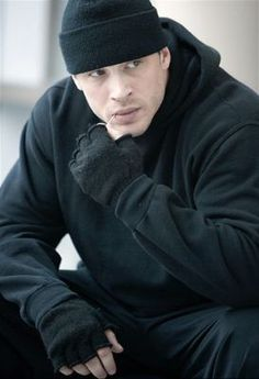 Because my sister says I always look like I'm going to rob a bank in my beanies and black. Now I have a twin. <3 Tom Hardy.