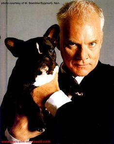 Famous French Bulldogs - Celebrity French Bulldog Owners. Malcolm McDowell
