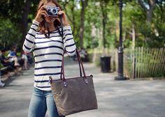 The Capri - Limited Edition Camera Tote in dark tan