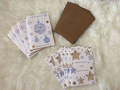 10 Weihnachtskarten Advent Weihnachten Karten Incl. Briefumschlag Umschlag Fest