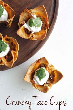 Crunchy Taco Cups: replace meat with black beans