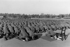 Bosnian volunteers of the 13th Waffen Mountain Division of the SS Handschar (1st Croatian) praying towards Mekka