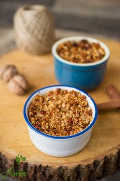 crumble-cu-dovleac-placintar Dog Food Recipes, Cereal, Oatmeal, Food And Drink, Sweets, Breakfast, Mai, Thermomix, The Oatmeal